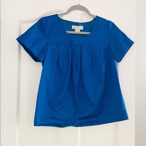 Gorgeous Michael Kors Blue Shortsleeve Top Small